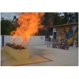 Serviço de treinamento de brigada de incêndio no Jaguaré