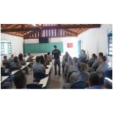 simulados de evacuação de área no Morro Grande