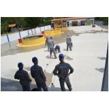 treinamento de evacuação de área