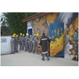 treinamento de bombeiro civil no Centro