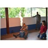Treinamento de brigada contra incêndio no Jardim Silveira