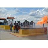 Treinamento de brigada contra incêndio