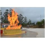 Treinamento de brigadistas para combate a incêndio no Centro