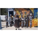 treinamento de evacuação de área em Raposo Tavares