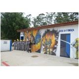 treinamentos de evacuação de incêndio no Jardim Silveira